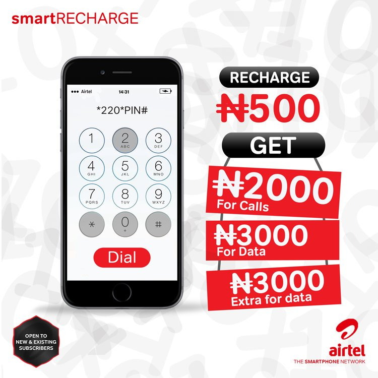 Get 10x of Your Recharge on Airtel Smart RECHARGE