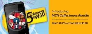MTN value added services callertunez