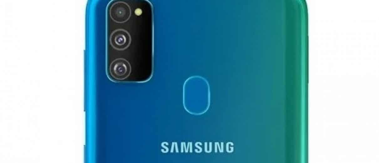 Samsung galaxy M30s portraying it's rear camera
