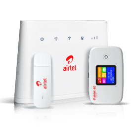 airtel router, mobile wifi, and dongle