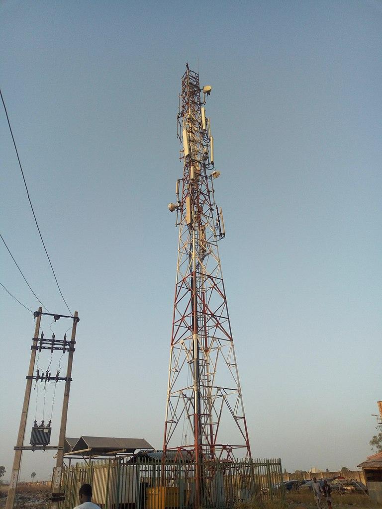 Telecommunication mast in Nigeria