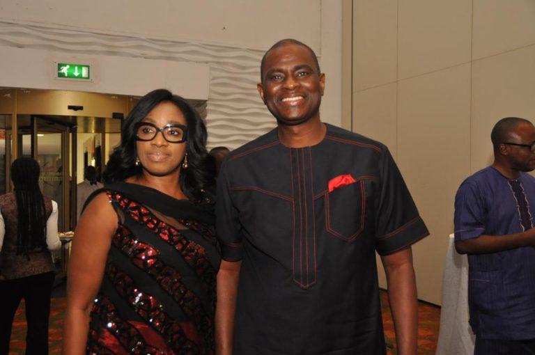 Segun Ogunsanya with wife