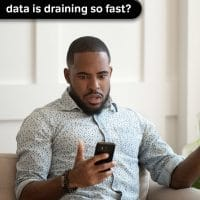 Data draining fast
