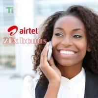 Airtel 20x bonus feature