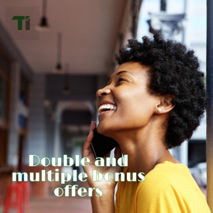 double and airtime multiplier bonus