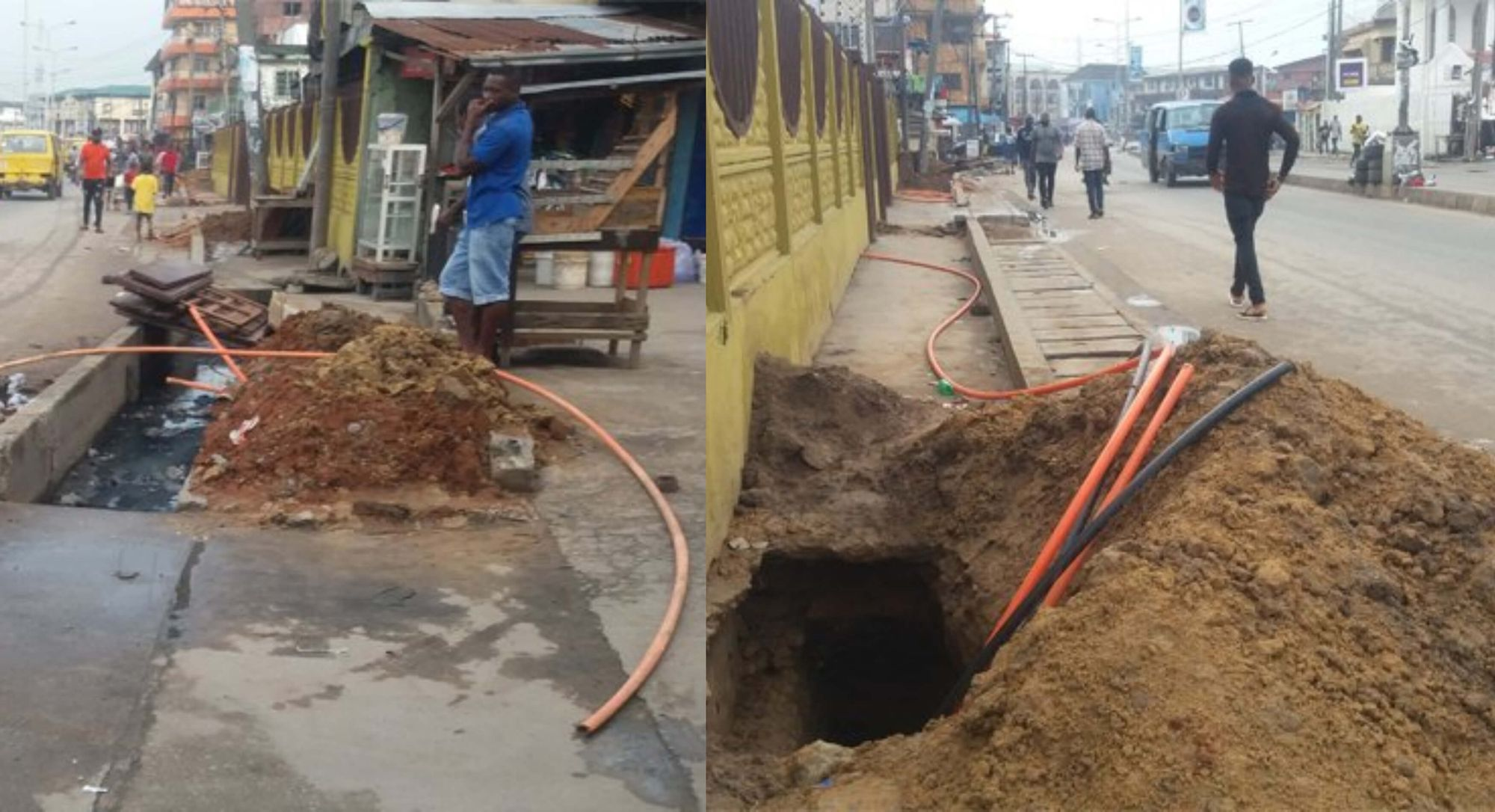 Fibre optic cable laying